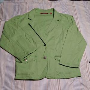 Green short blazer